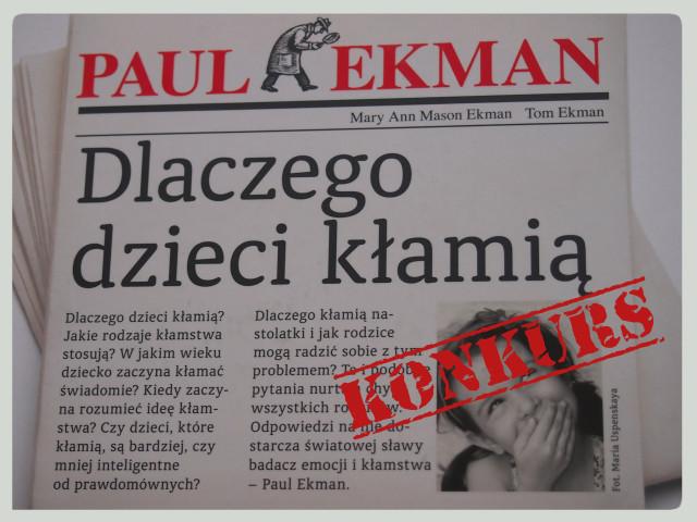 """Paul Ekman """"Dlaczego dzieci kłamią"""" – recenzja ikonkurs"""